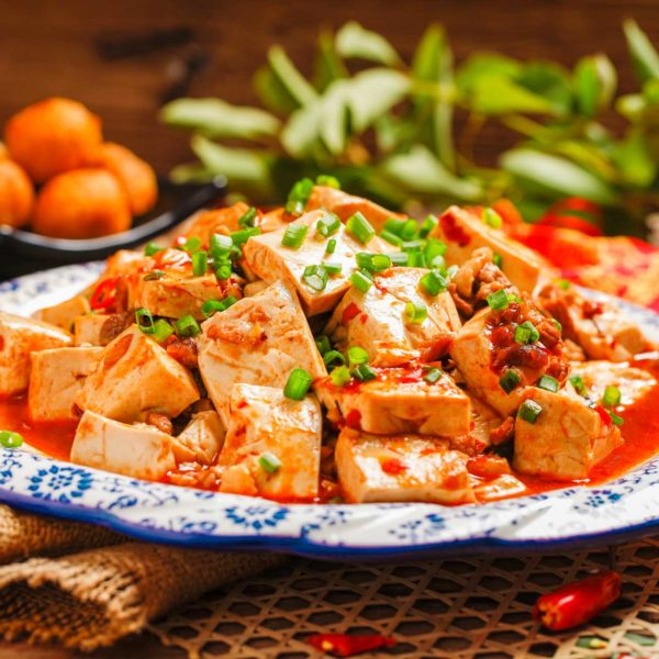 Geserveerd Sichuan eten in Restaurant